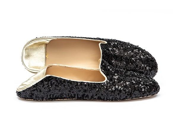 WUPDowncocktalSequin Balck adorote slippers6