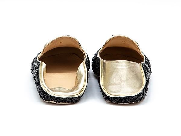 WUPDowncocktalSequin Balck adorote slippers5