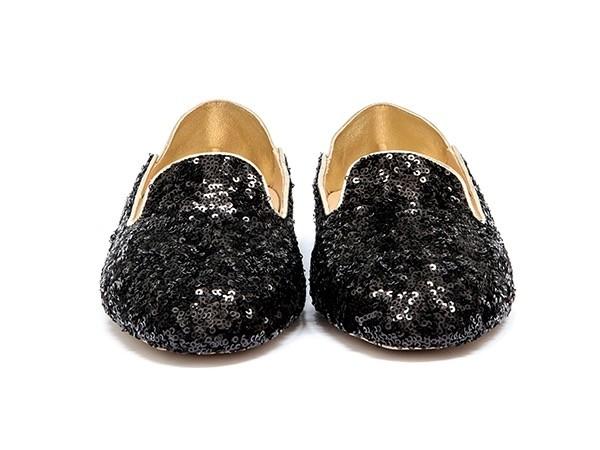 WUPDowncocktalSequin Balck adorote slippers1