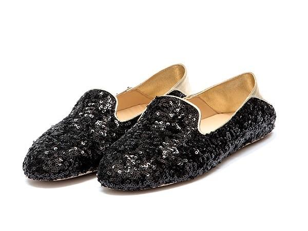 WUPDowncocktalSequin Balck adorote slippers2