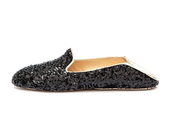 WUPDowncocktalSequin Balck adorote slippers4