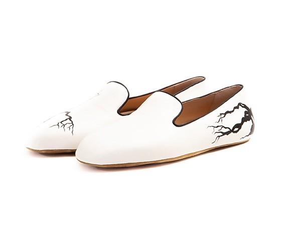 Mfronde nappa white slippersadoroTe3